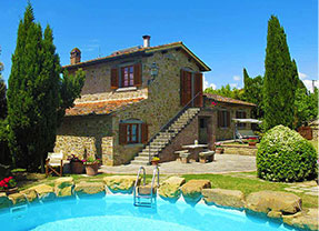 Affitto agriturismo per vacanze in toscana arezzo for A forma di piani di casa con piscina